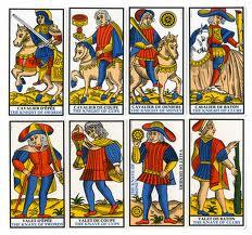 Cartas del Tarot de Marsella.