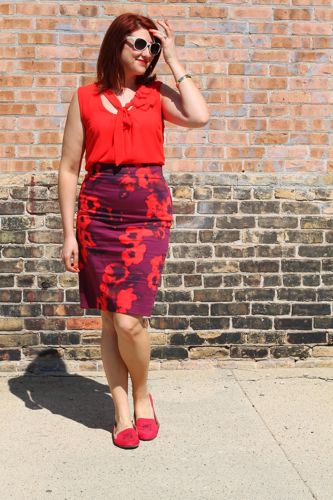 zara, floral, pencil, skirt