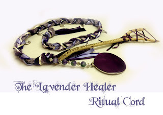 The Lavender Healer Ritual Cord with sprite catcher from MoonsCrafts in purples