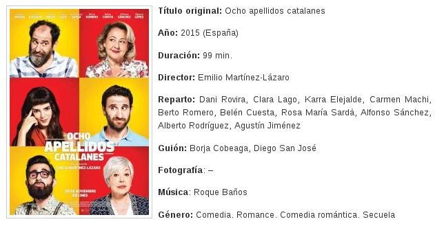 Mala cr tica para el gui n de 8 apellidos catalanes - 8 apellidos vascos actores ...