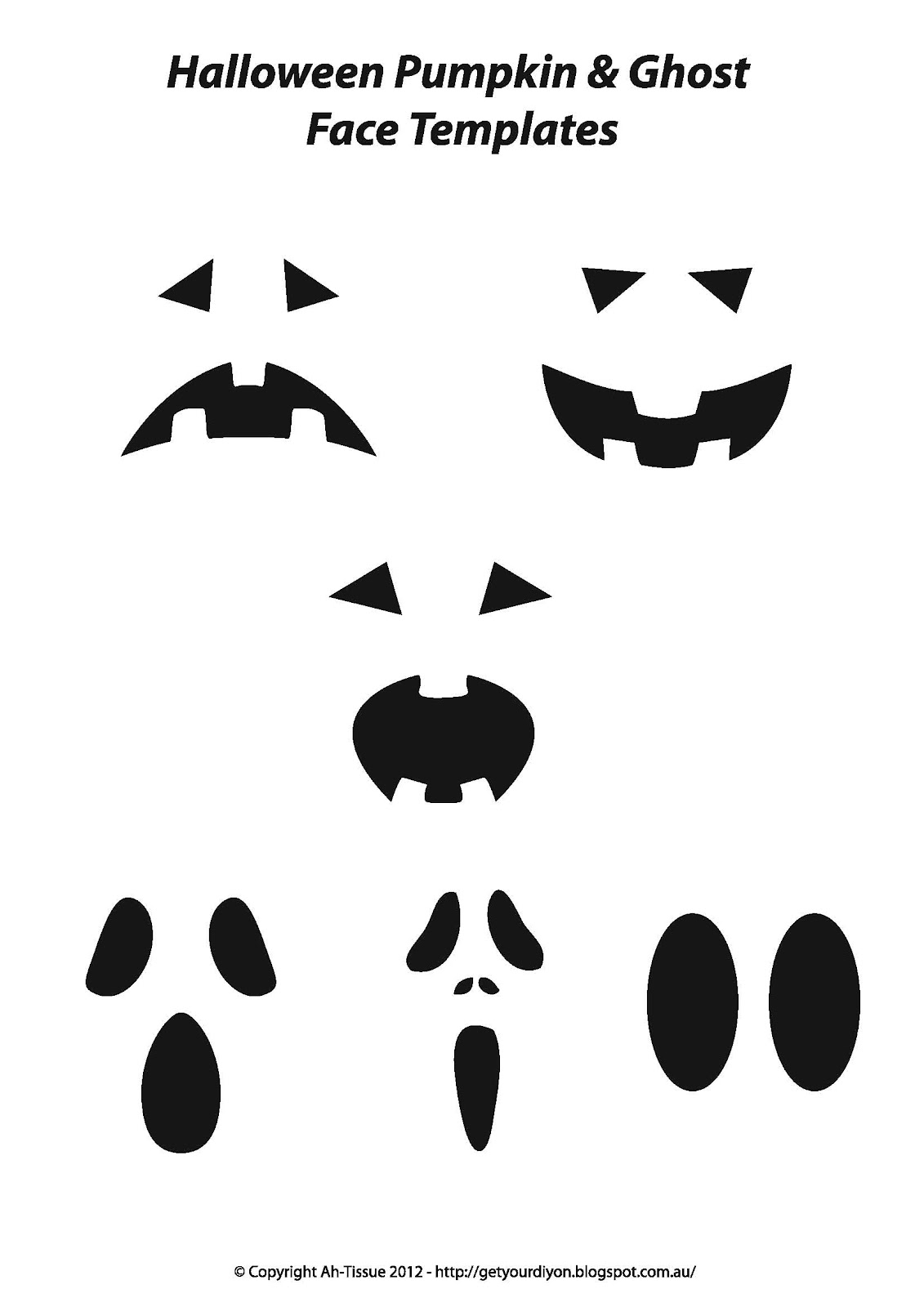 Resource image inside printable ghost faces