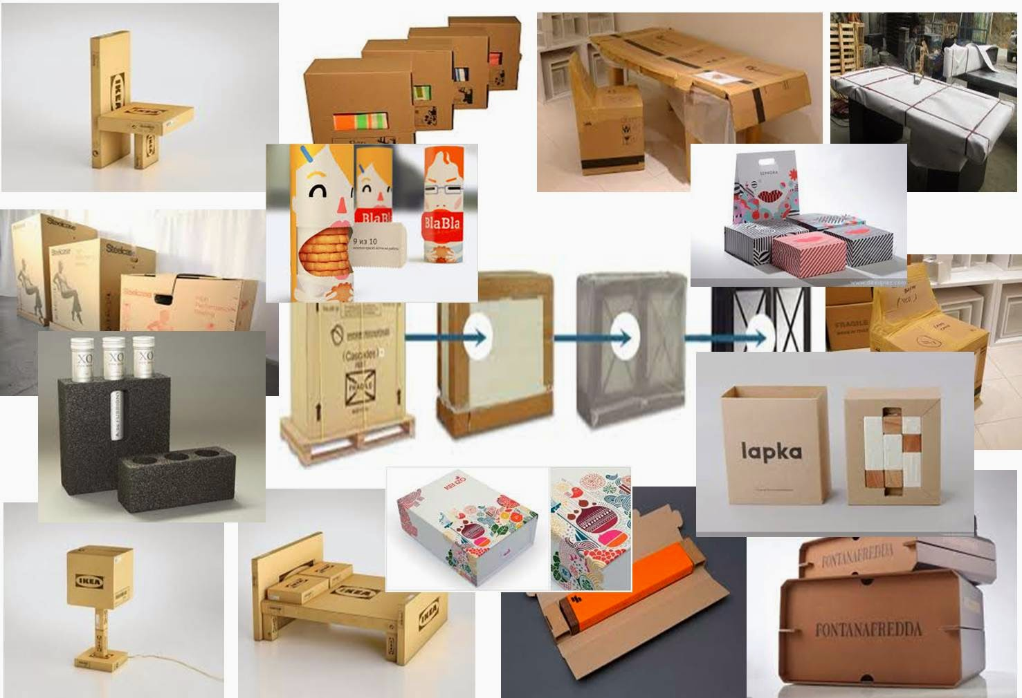 furniture packaging mood board | De Stijl furniture ( Alfie Morgan )