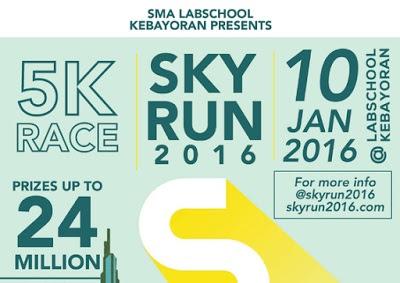 Sky Run 2016 SMA Labschool Kebayoran Jakarta, lomba lari 5km