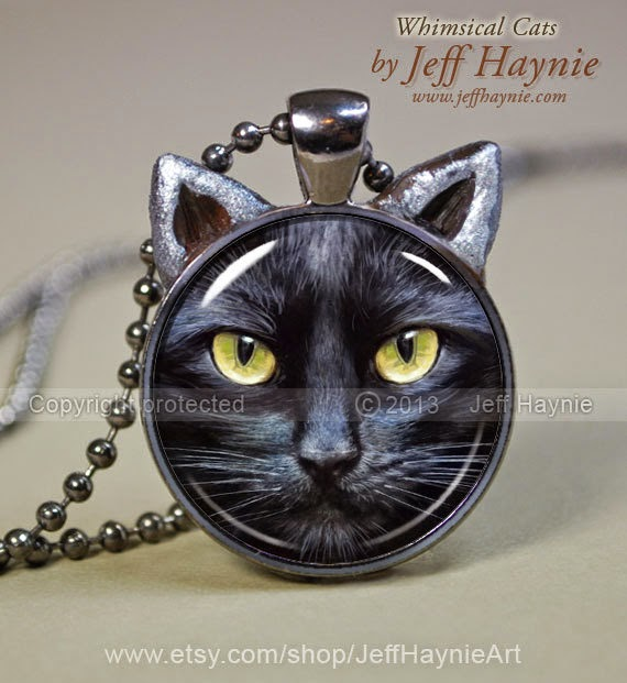 20-Black-Cat-Pendant-Jeff-Haynie-Cats in Drawings-Paintings-and-Jewelry-www-designstack-co