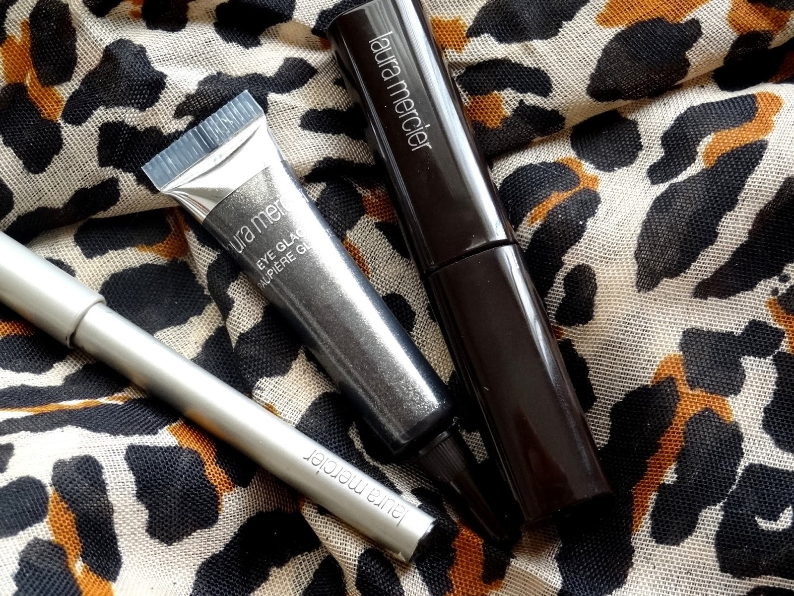 Laura Mercier 'Black Diamond' Eye Transformer Trio Eye Glacé in Black Diamond, Kohl Eye Pencil in Jet Black, Full Blown Volume Suprême Lash Building Mascara in Black