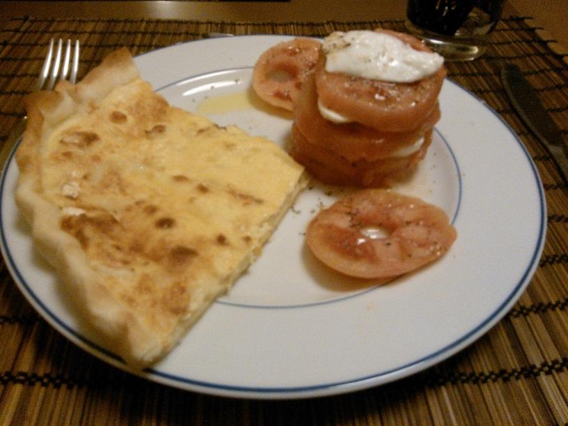 Quiche cuatro quesos