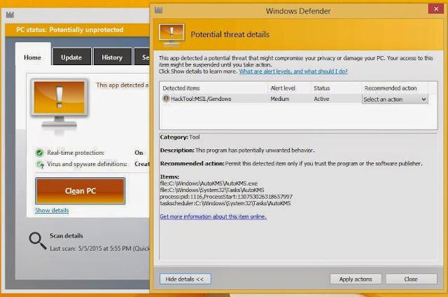 Anti Virus Microsoft Windows 8.1 Asli / Defender Terbaik ! 2015 !
