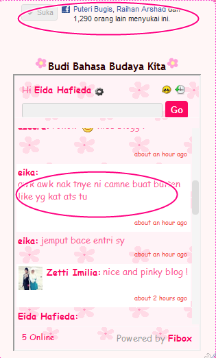 Cara Letak Button Like The Blog