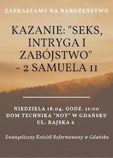 zapraszam - nabożeństwo w gdańsku