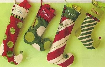 navidad con patrones: Botas Navideñas