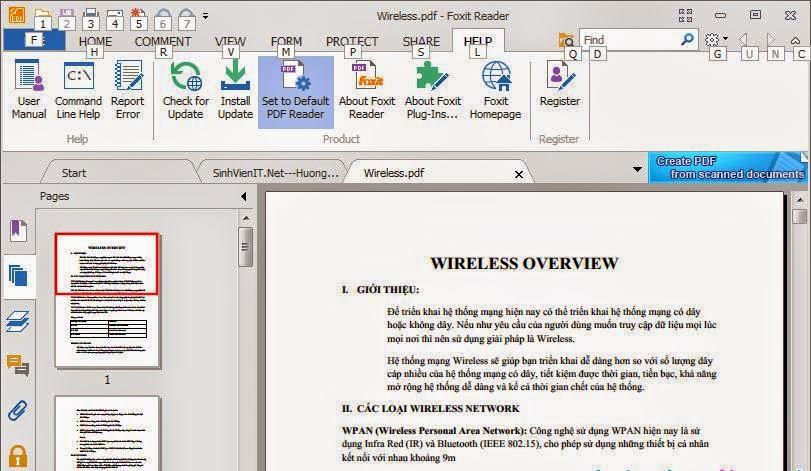 Phần mềm đọc file PDF miễn phí - Foxit Reader 6.2.2.0802 Final