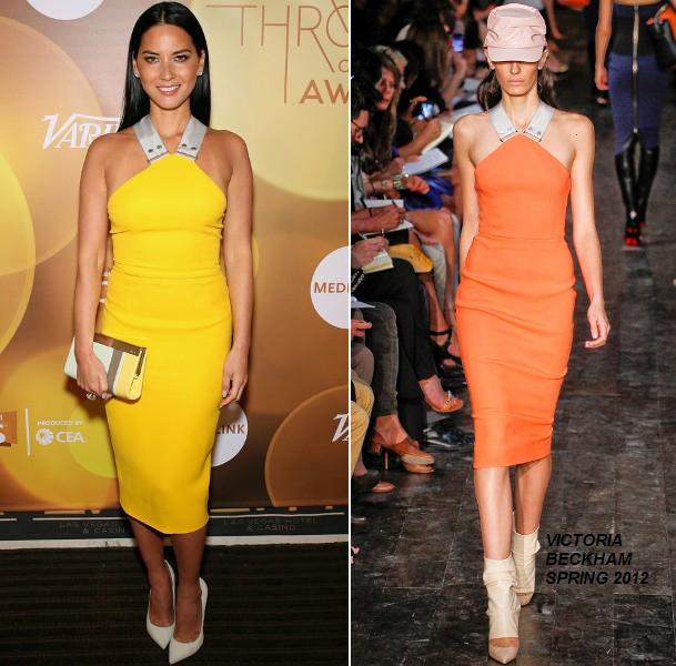 Olivia Munn In Victoria Beckham At The Variety Breakthrough Awards