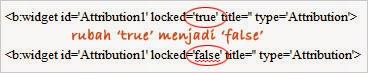 Ubah nilai locked='true' menjadi locked='false'