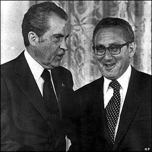 Kissinger y Richard Nixon