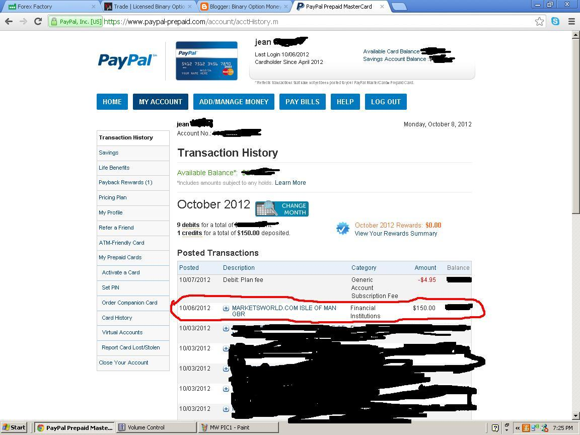 Binary options paypal withdrawal