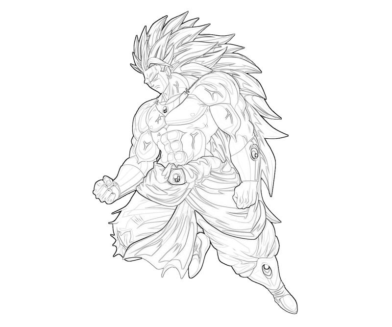 broly coloring pages - photo#14