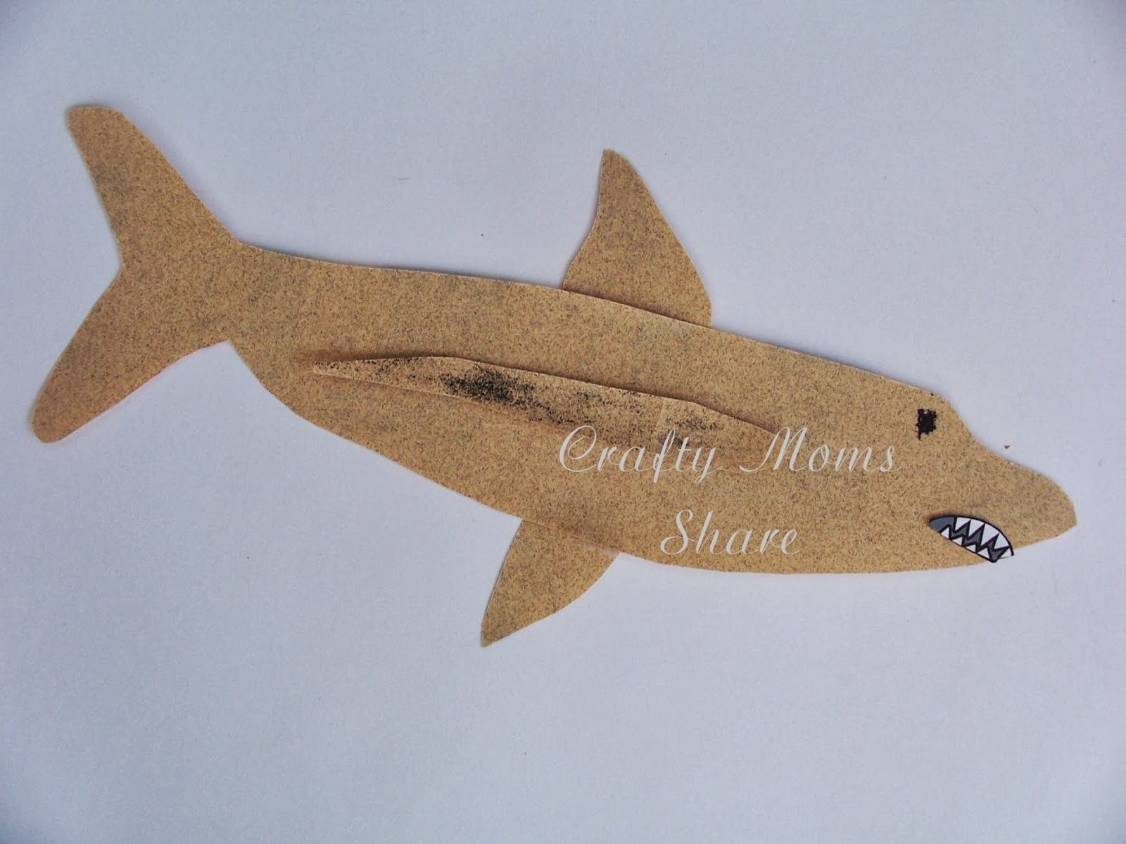 crafty moms share shark exploration of underwater creatures for our first craft we used the printable over at learn create love printable shark craft i cut out the paper patterns and instead of having hazel add
