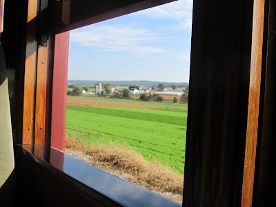 Beautiful scenery along the rials at Strasburg Railroad