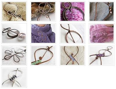 Spille da scialle, shawl pins