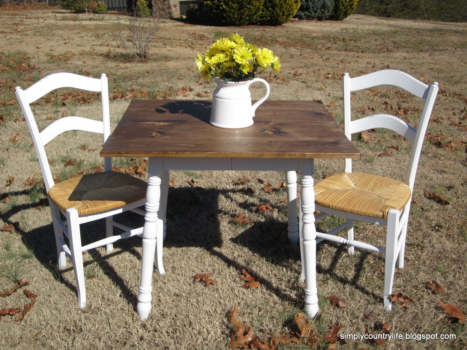 Simply country life thrift store finds turned into kitchen farm table workwithnaturefo