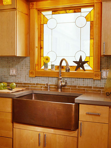 Limelight interiors interior decorating home staging for Stained glass kitchen windows