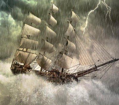 Resultado de imagen de Barcos en medio de una tempestad