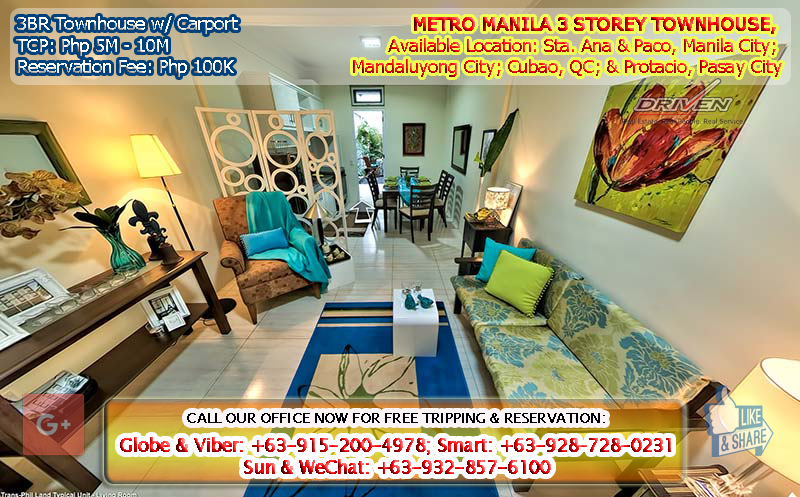 METRO MANILA HOUSE AND LOT / TOWN HOUSE FOR SALE