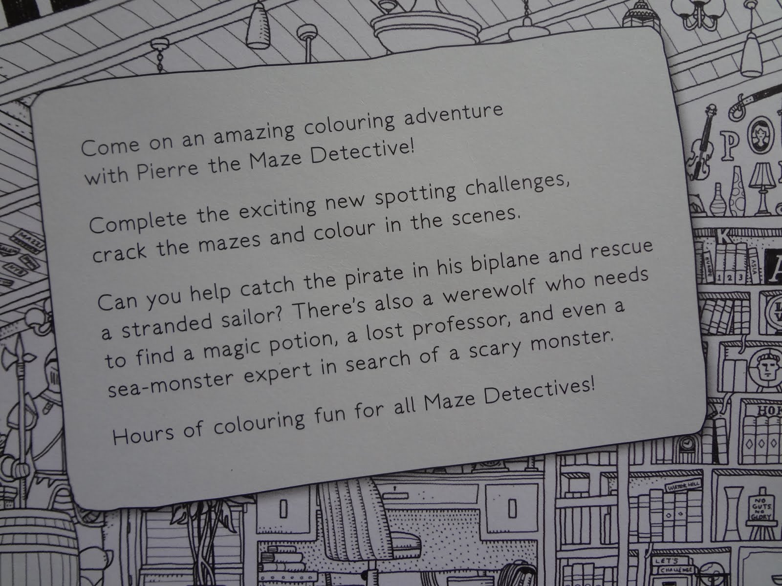 Its all about stories book review pierre the maze detective so many things to do from colouring to searching for the characters there are instructions in the front of the book so it is a bit like a do it yourself solutioingenieria Image collections