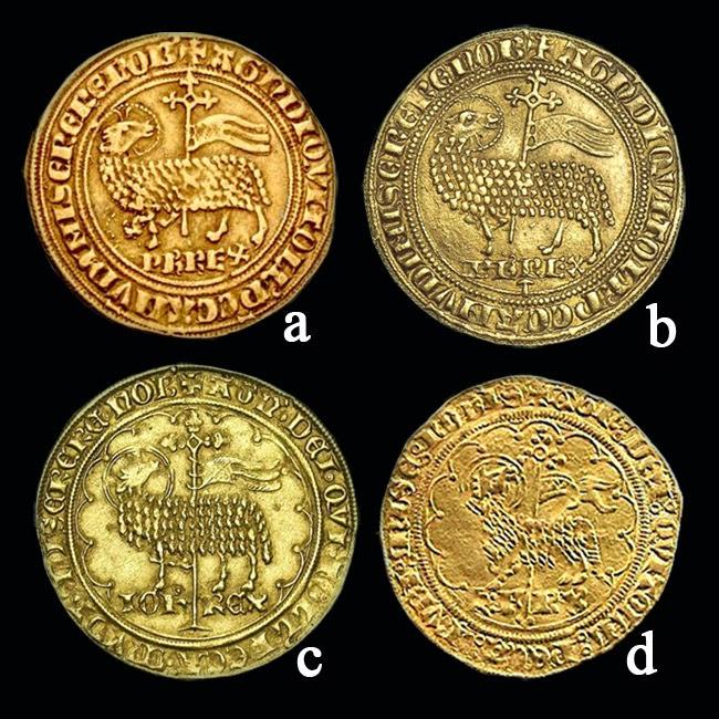 Numisarchives representaciones del agnus dei en monedas for Que es una beta de oro