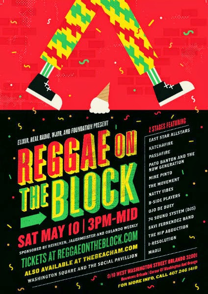 Reggae on the Block Festival Flyer