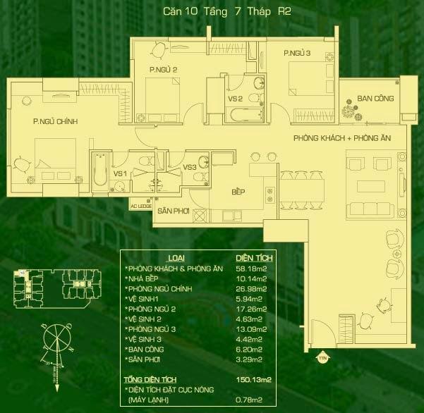 căn hộ 10 tháp R2, căn hộ the everrich
