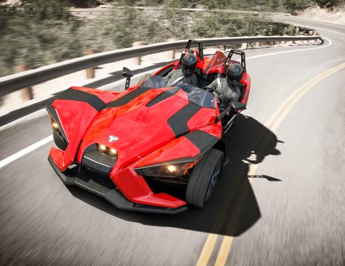 Polaris introduced the 2015 New Slingshot 2 seater three wheeled car ...