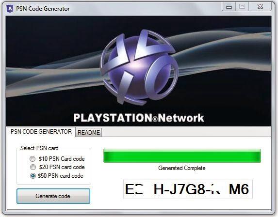 PSN Code Generator