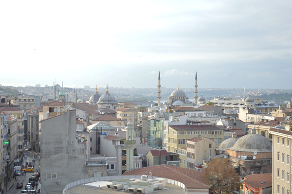 roofttop view Istanbul