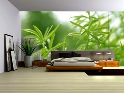 green bedroom design