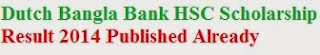Download Dutch Bangla Bank HSC Scholarship Result 2014.