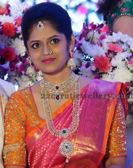 Mp Jithender Reddy Daughter Engagement Jewellery Designs