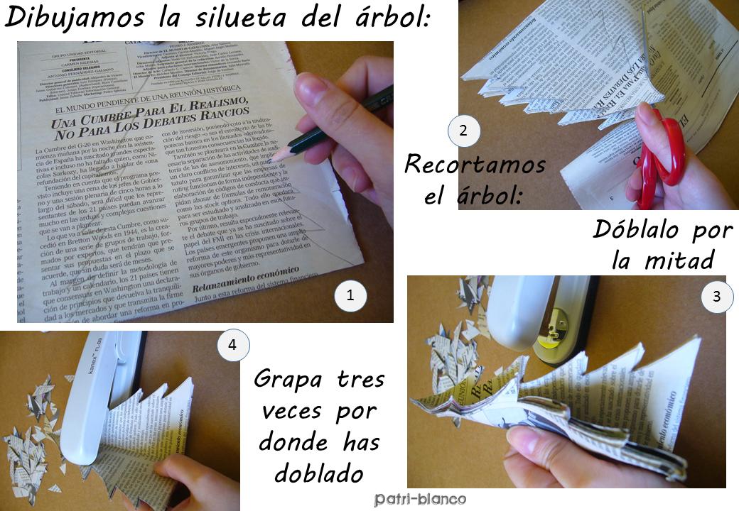 Arbol de papel paso uno
