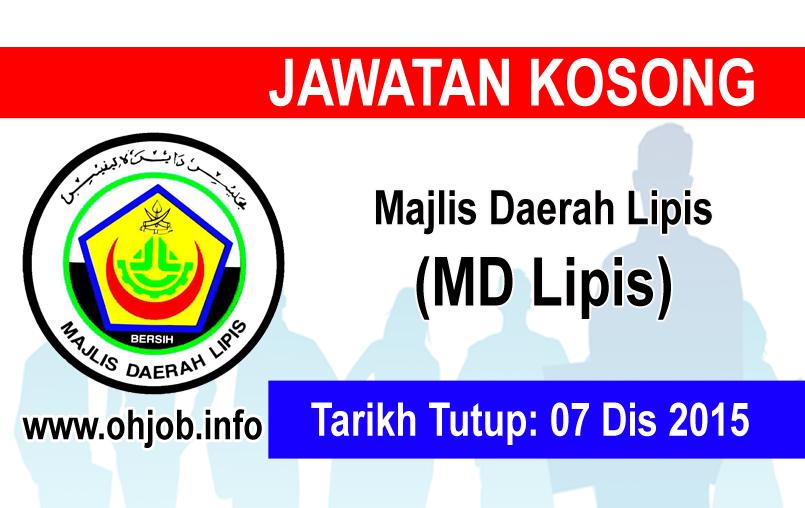 Jawatan Kerja Kosong Majlis Daerah Lipis (MDLipis) logo www.ohjob.info disember 2015
