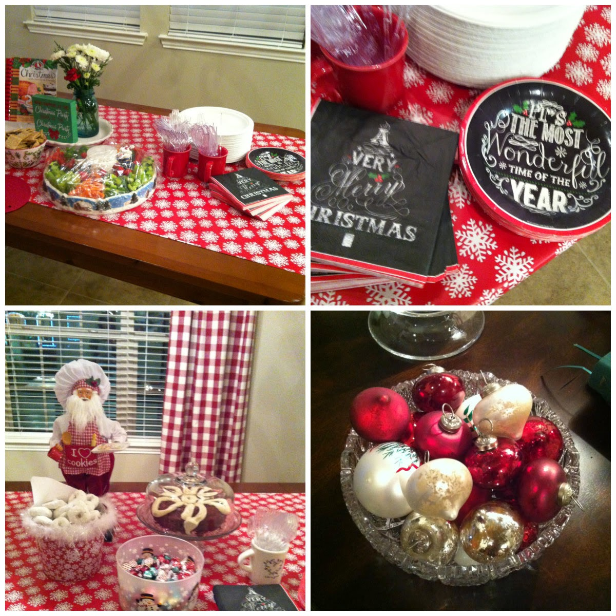 A Christmas party with 45 of my closest blogging friends. Easy and fun decorating.