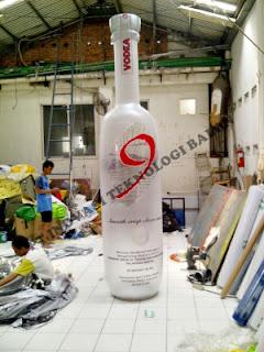 Balon karakter botol minuman Vodca