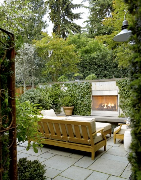 I Came Across This Image Of A Outdoor Fireplace By Scot Eckley Serving  Double Duty As A Privacy Wall. For A Small Urban Or Suburban Garden, ...