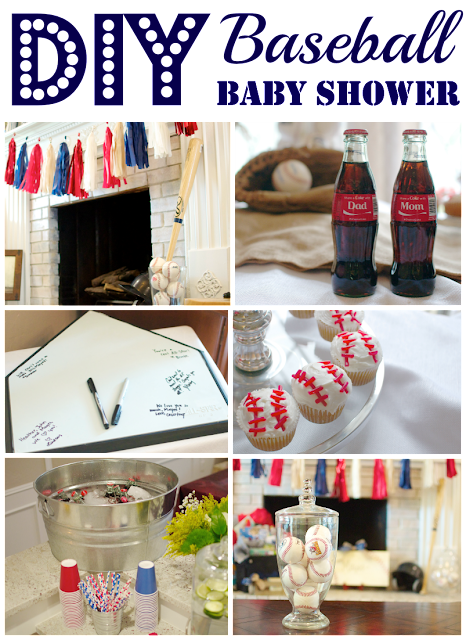 diy baseball themed baby shower for a sweet little boy and mom to be