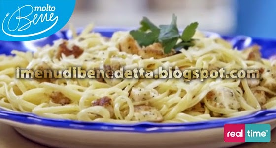 Linguine con Bocconcini di Pesce Spada e Panure di Benedetta Parodi