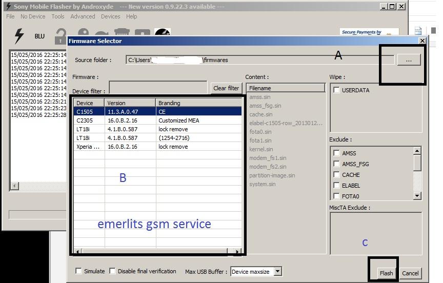 Sony Xperia Flashtool ftf file - Emerlits Gsm Service