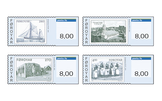 Faroe Islands: Franking Labels 2014: Faroese Stamps for 40 years