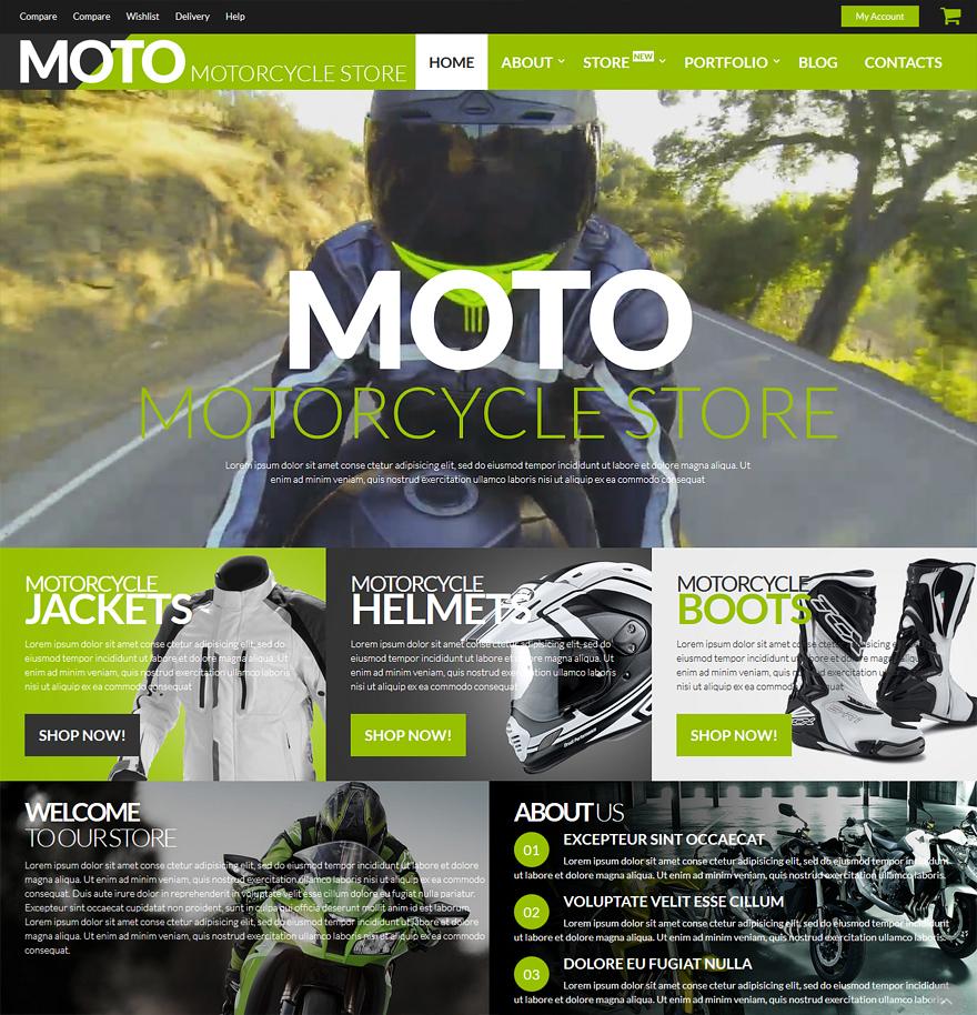 Motorsports Store WooCommerce Theme