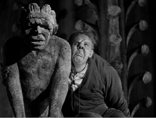 "CHARLES LAUGHTON AS QUASIMODO (1939)  ""THE HUNCHBACK OF NOTRE DAME."""