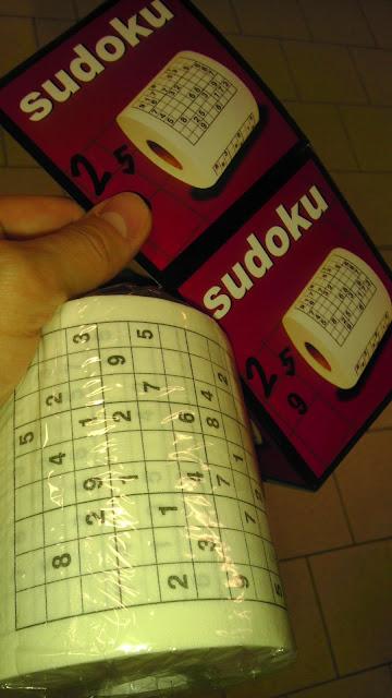 Sudoku pe hârtie igienica