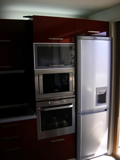Кухня МДФ гланц червена 1